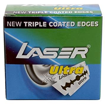 laser shaving Ultra Double Edge Safety Razor Blades with Triple Coated Edges -Set of 50 Pieces Women's Manual Razors at amazon