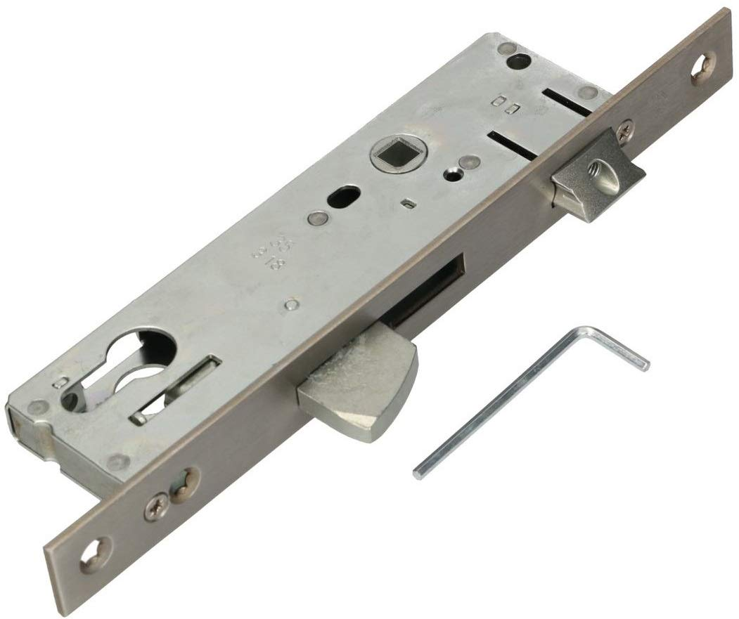 medida de la mandril: 30//35 mm Cerradura de tubo de 92 mm de acero inoxidable cerradura de puerta para cilindro de perfil izquierdo//derecho KOTARBAU