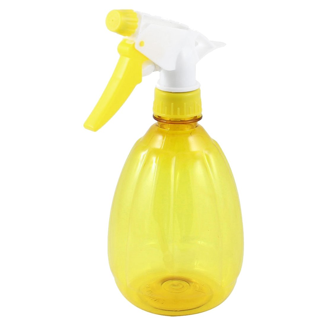 SODIAL 500 ml FLOWER handle press plastic single lever sink mixer tap spray bottle bicolor yellow