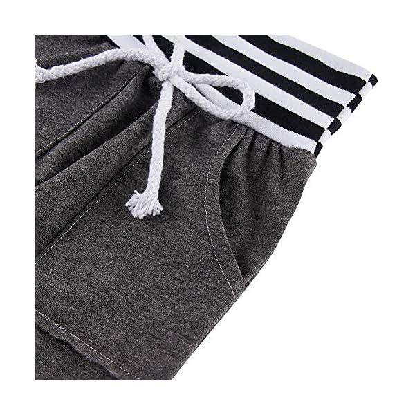 chicolife Toddler Infantile Manica Lunga con Cappuccio Set Neonati Maschi Patchwork Top Tuta Coulisse Pantaloni Outfit 0… 5