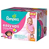 Pampers Girls Easy Ups Training Underwear 4T-5T (Size 6), 60 Count (Old Version)