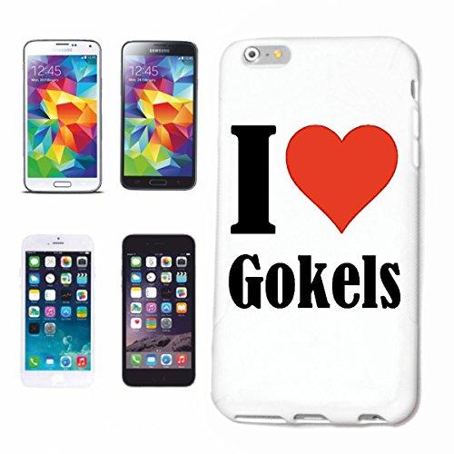 """Handyhülle iPhone 4 / 4S """"I Love Gokels"""" Hardcase Schutzhülle Handycover Smart Cover für Apple iPhone … in Weiß … Schlank und schön, das ist unser HardCase. Das Case wird mit einem Klick auf deinem Sm"""