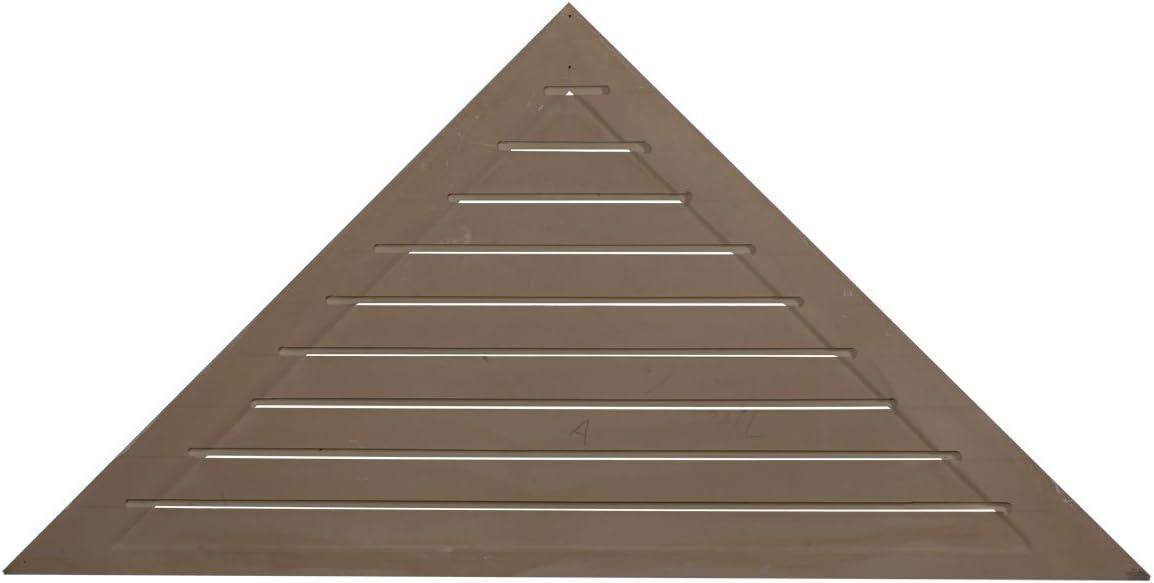 48W x 24H x 1 1//8P Ekena Millwork GVTR48X24D Triangle Gable Vent Factory Primed White