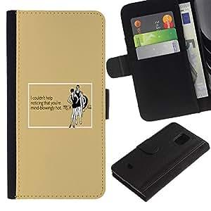 """Be-Star la tarjeta de CršŠdito Slots PU Funda de cuero Monedero caso cubierta de piel Para Samsung Galaxy S5 Mini (Not S5), SM-G800 ( Mujer atractiva caliente Cita divertida vestido de Negro"""" )"""