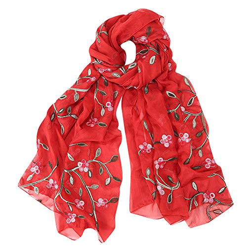 Hijab Scarfs for Women Hot Sale,deatu Clearance Ladies Embroidery Chiffon Wrap Shawls Headband Muslim Scarf(C)