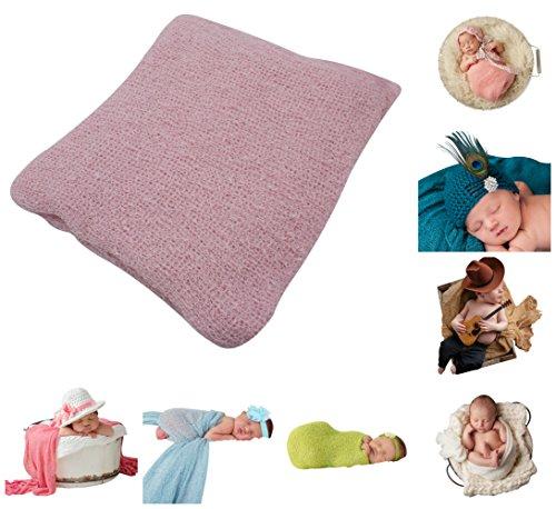 Newborn Baby Photo Prop - JLIKA Newborn Baby Photography Photo Prop Stretch Rayon Wrap (Powder Pink)
