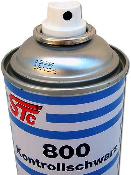 Stc Kontrollschwarz 400 Ml Kontrolllack Spray Schwarz Matt Kontrollspray Für Schleifarbeiten Auto