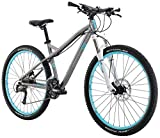"Diamondback Bicycles Women's 2016 Lux Sport Hard Tail Complete Mountain Bike, 17""/Medium, Dark Silver"