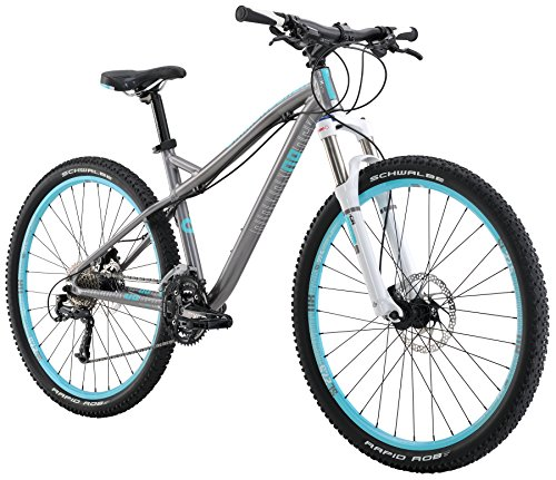Diamondback Bicycles Women's 2016 Lux Sport Hard Tail Complete Mountain Bike, 17″/Medium, Dark Silver Special Price