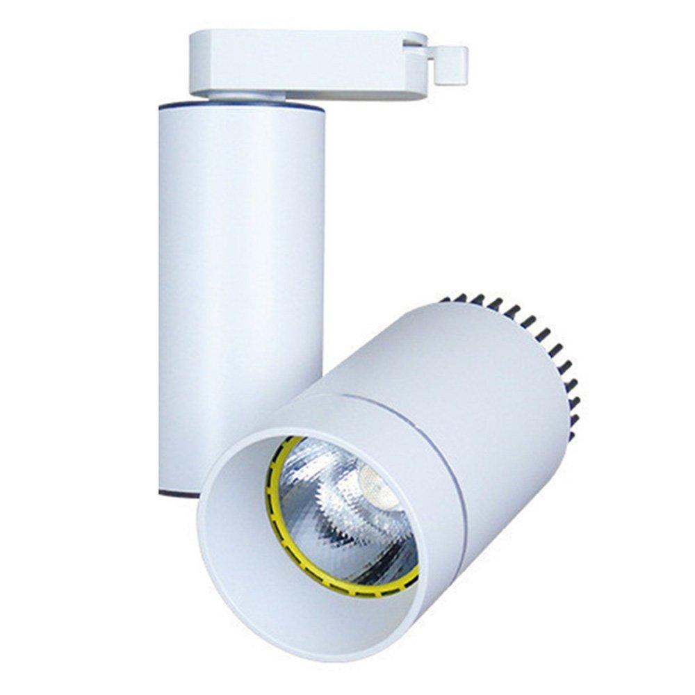 Track Lighting LED 12W White Black Shell Aluminum AC85-240V Daylight Warm White Lighting 1pack (White Shell, Warm White 12W)