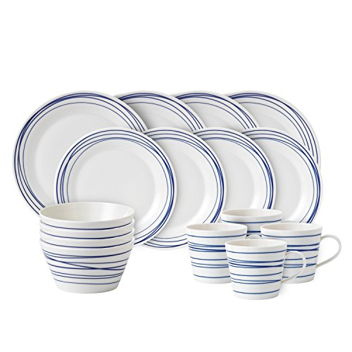 Royal doulton pacific 16 piece set lines dinnerware set for Kitchen set royal