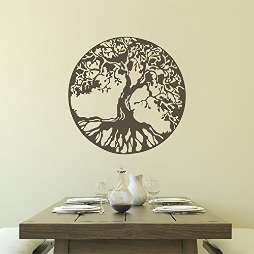 MairGwall Nature Decor Tree Wall Decal Ancient Celtic Tree of Life Wall Graphics Bedroom Vinyl(20