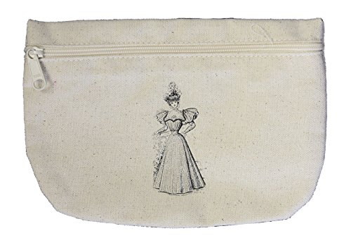 Robe Prime June 1896 Vintage Look Canvas Pouch with Zipper, Makeup Bag - 1896 Canvas
