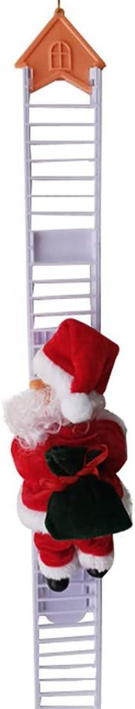 UKtrade® 2020 más reciente decoración de Navidad Santa Claus escalada eléctrica colgante de Navidad adornos juguetes grandes para niños regalo