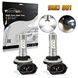 hyundai accent 2008 fog light - Partsam 2x 25W White 881 886 896 High Power 6000K Super Bright LED Fog Driving Light For Ford