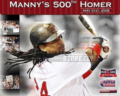 Manny Ramirez Boston Red Sox 500th Homer collage 8x10 11x14 16x20 photo 385 - Size 16x20 by Your Sports...