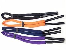 Pack of 4 Adjustable Floating Foam Eyewear Retainer Holder Sports Sunglass Keepers Eyeglass Holder Safety Strap Rope