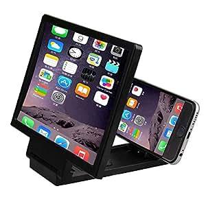 SODIAL 3D Mobile Phone Screen Magnifier HD Video Amplifier for Smart Phones Black