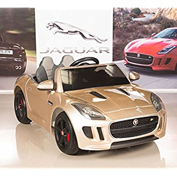 Jaguar F-TYPE 12V Kids Ride On Battery Powered Wheels Car with 2.4GHz RC Remote, Champagne