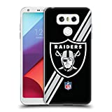 Official NFL Stripes Oakland Raiders Logo Soft Gel Case for LG G6 / G6 Dual