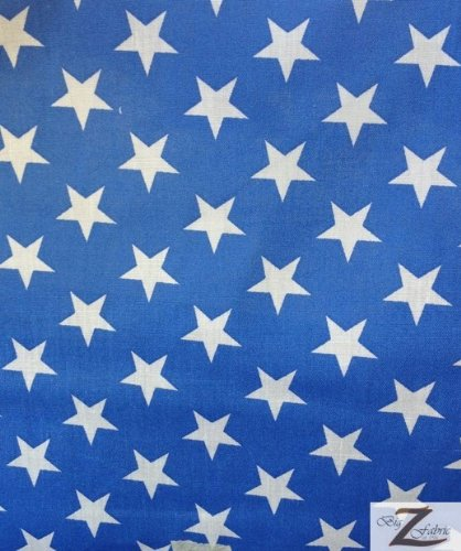 Big Z Fabric STAR PRINT POLYCOTTON PRINT FABRIC - Blue/White - 59
