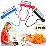 Magic Trio Peelers Set of 3 for Kitchen Fruits & Vegetables 2018 by Great Home