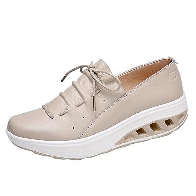 Zapatos de Cuero para Mujer Otoño 2018 Zapatillas Dama con Plataforma PAOLIAN Casual Cómodo Calzado de Vestir Moda Zapatos de Cordones Señora Breathable: ...