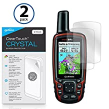 Garmin GPSMAP 64s Screen Protector, BoxWave® [ClearTouch Crystal (2-Pack)] HD Film Skin - Shields From Scratches for Garmin GPSMAP 64s