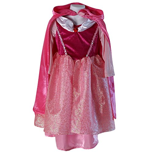 Deluxe Storybook Princess Costumes (Storybook Wishes Deluxe Princess Dress & Hooded Cloak (2/4, Pink + Hot Pink Princess))