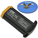 HQRP 2200mAh Battery for Canon NP-E3, 7084A001, 7084A002 Replacement, fits EOS 1D / EOS 1D Mark II Digital SLR Camera + HQRP Coaster
