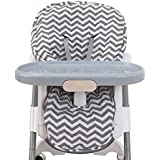 NoJo High Chair Cover Pad - Chevron Gray