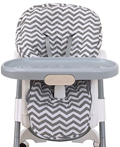 NoJo High Chair Cover Pad - Chevron Gray by NoJo