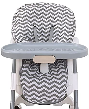 NoJo High Chair Cover Pad   Chevron Gray