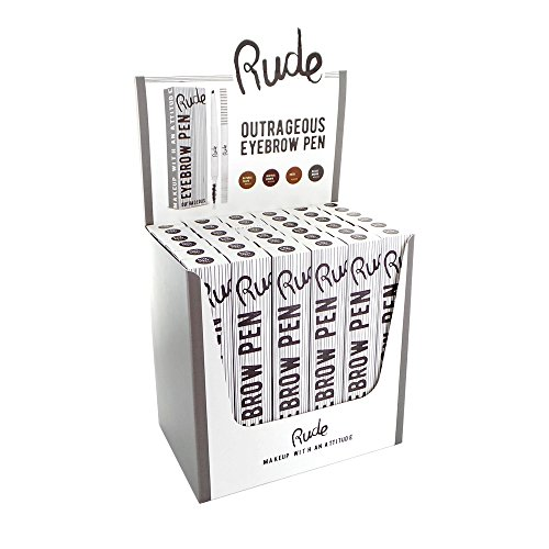 RUDE Outrageous Eyebrow Pen Display Set, 36 Pieces by RUDE