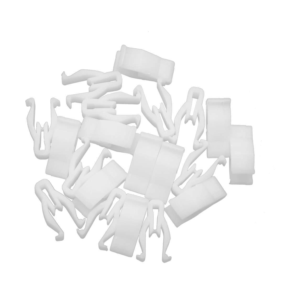 X AUTOHAUX 20pcs White Console Instrument Retainer Clip Car Moulding Trim Fastener Interior