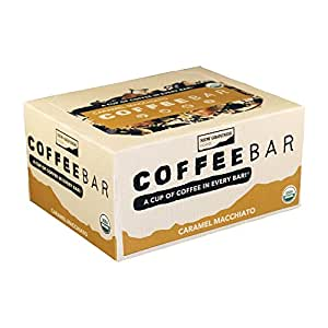 Eat Your Coffee Energy Bar, Caramel Macchiato, Organic, Vegan, Gluten Free, 12 Count