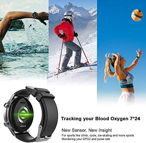 Pewant Fitness Tracker Smart Watch,IP68 Waterproof Activity Tracker Smart Watch TWS Music Play with Heart Rate Blood Pressure Message Alerts Call Reminder Smartwatch for Men Kids,Bluetooth Touch Screen Sport Watch 3