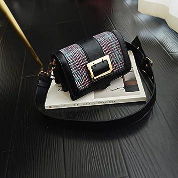 6fd82c7427a8b OME QIUMEI Taschen Handtaschen Breite Träger Small Satchel Bag  Umhängetasche Für Frauen Schwarz