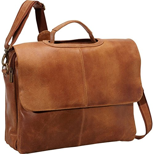 le-donne-leather-distressed-leather-flap-over-brief-tan