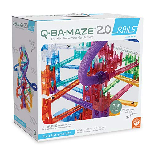 (MindWare Q-BA-Maze 2.0 Stunt Set (Rails Extreme 138 Piece Set))