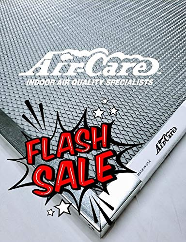 (Air-Care 16x20x1 Silver Electrostatic Washable A/C Furnace Air Filter - Limited, Never Buy Another Filter!! - Made In the)