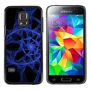 TopCaseStore / la caja del caucho duro de la cubierta de protección de la piel - Abstract Blue Spiral - Samsung Galaxy S5 Mini, SM-G800, NOT S5 REGULAR!