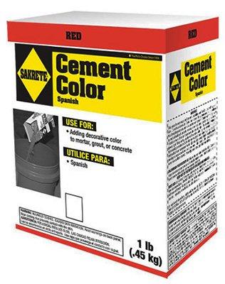 Red Cement - Sakrete 65075003-RDC04-09 Red Color Cement - 1 lb.