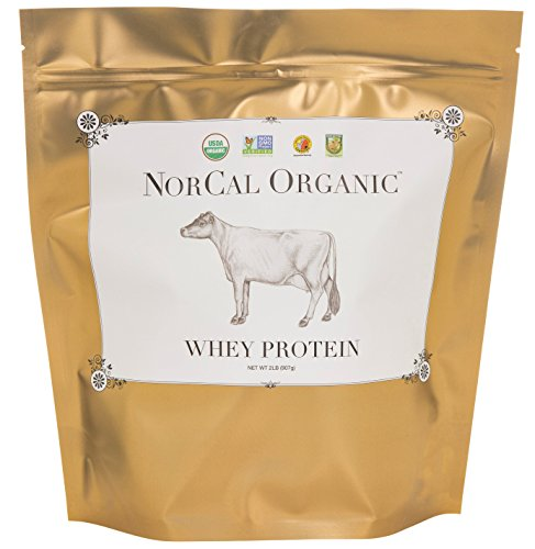 NorCal Organic Whey Protein - 100% Grass-Fed and Grass-Finished - UNFLAVORED - 2lb Bulk …