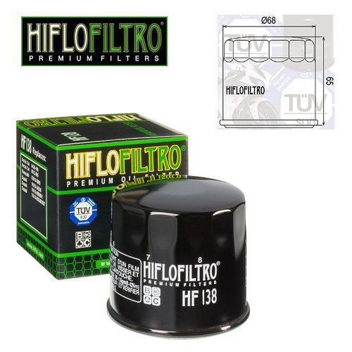FILTRO OLIO MOTORE HIFLO HF138 PER SUZUKI VL 800 INTRUDER LC VOLUSIA 2001