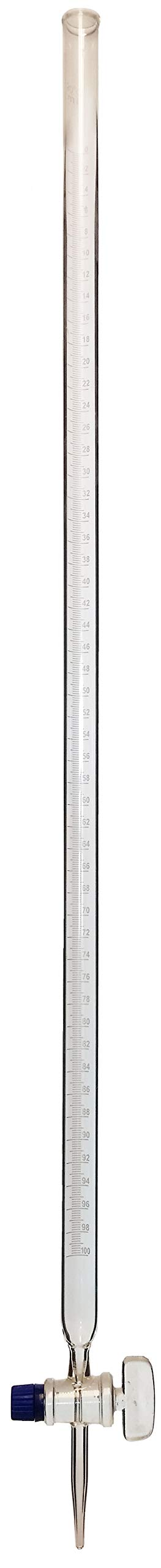Burette with Ground Glass Stopcock, 100ml, Pack of 5 by GSC