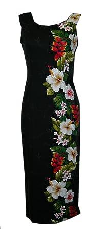 04880ee0176 Jade Fashions Inc. Women s Hawaiian Hibiscus Long Dress at Amazon ...