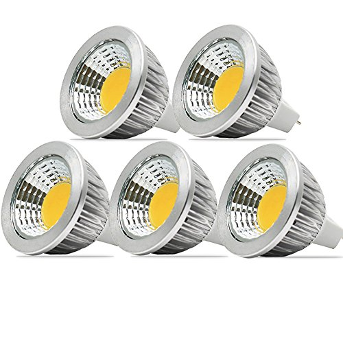 5Pack Warm White 3000K DC12V Mr16 LED Bulb - 3W Spot Light Lamp Bulbs,Replacement Bulb Equivalent to 30Watt Halogen,120 Degree Beam Angle - 30w Replacement