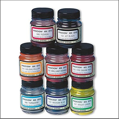 Procion Dye - Cold Water Dye, 2/3 oz., Asst. Colors (set of 8)