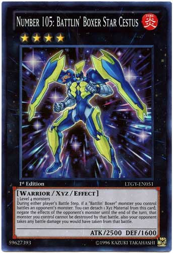 Yu-Gi-Oh! - Number 105: Battlin Boxer Star Cestus (LTGY ...